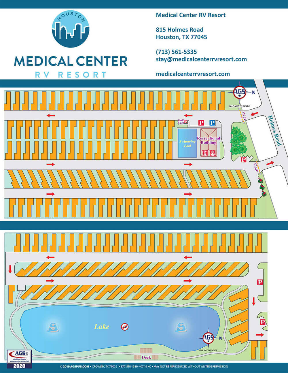 Medical Center RVResort Map